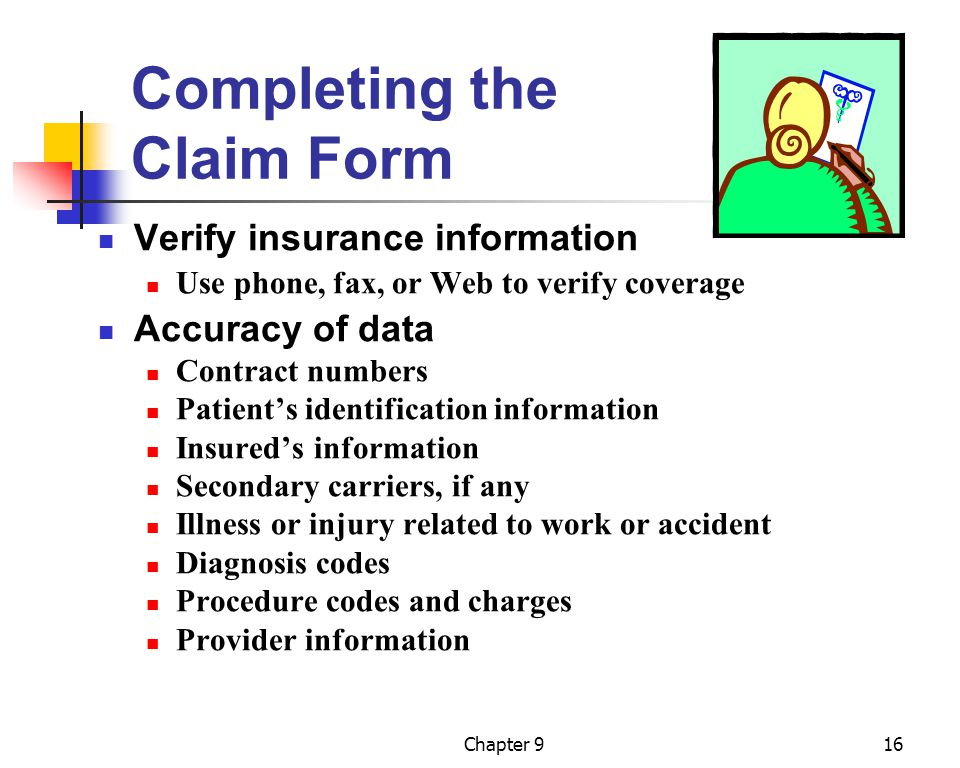 Completing the Claim Form