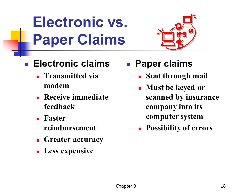 Electronic vs. Paper Claims