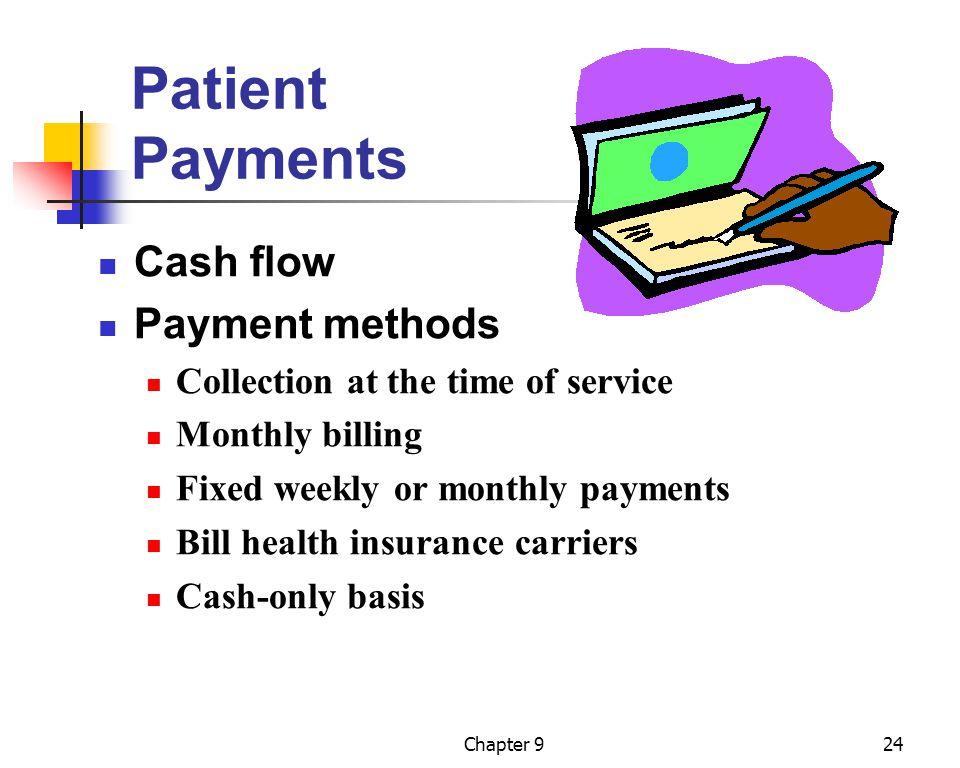 Patient Payments Cash flow Payment methods