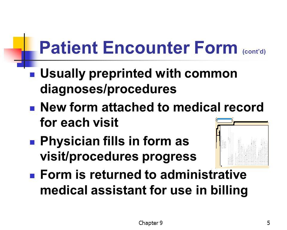 Patient Encounter Form (cont'd)