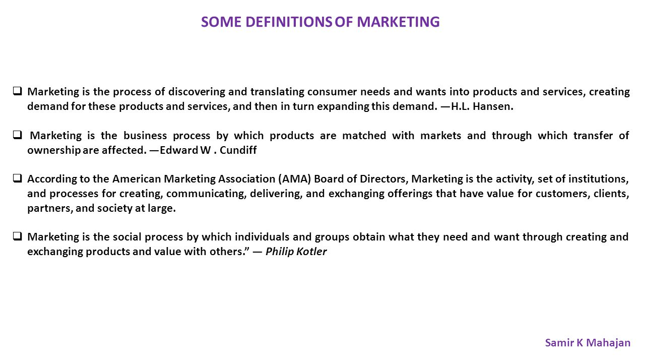 core concept of marketing according to philip kotler