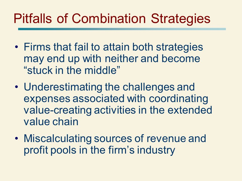 Pitfalls of Combination Strategies