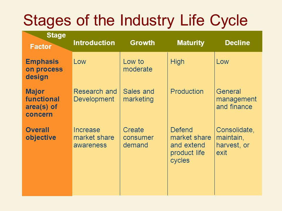 Stages of the Industry Life Cycle