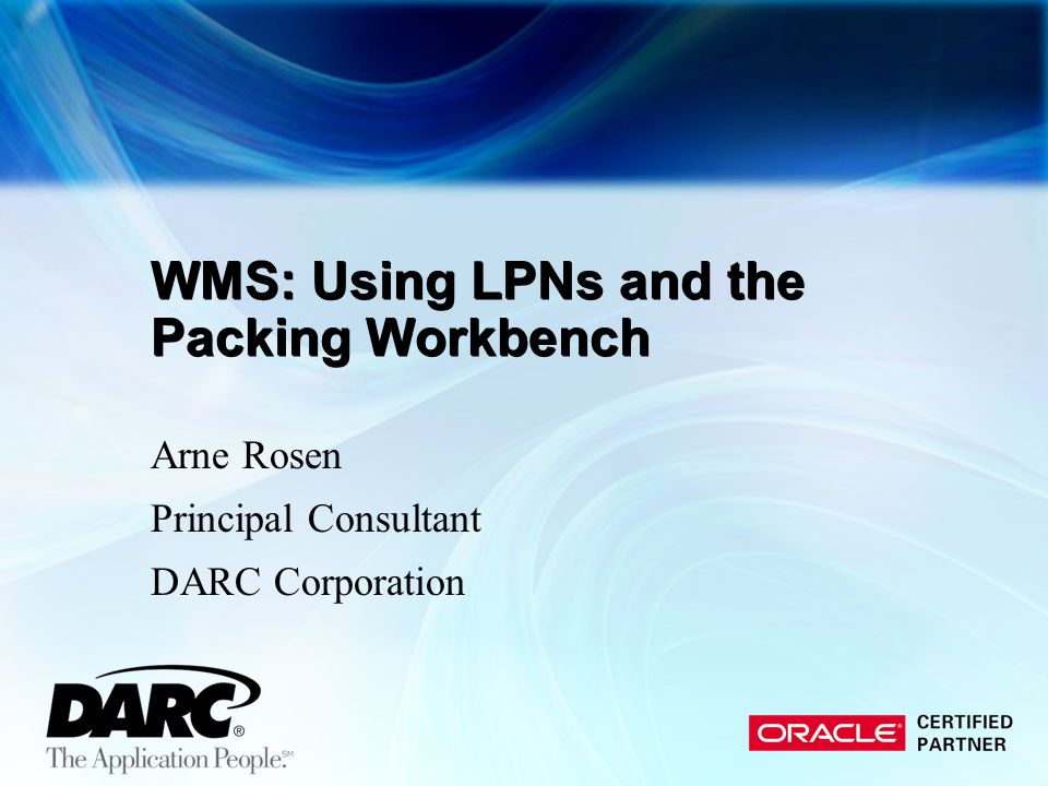 WMS: Using LPNs and the Packing Workbench