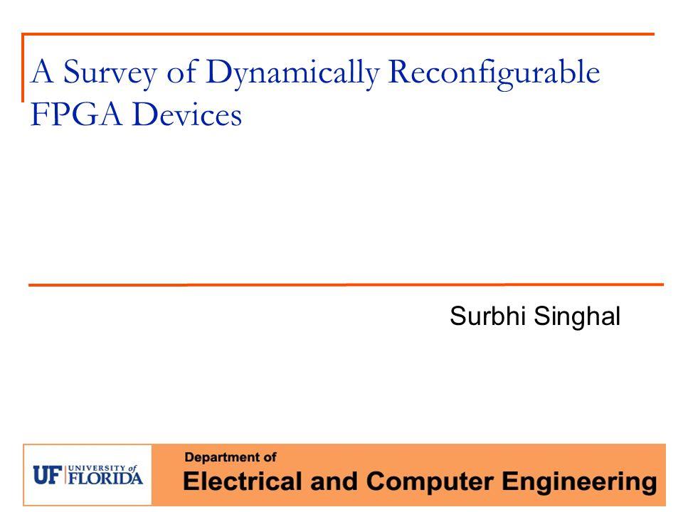 A Survey of Dynamically Reconfigurable FPGA Devices