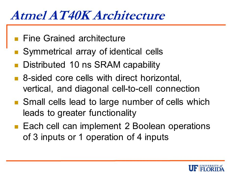 Atmel AT40K Architecture