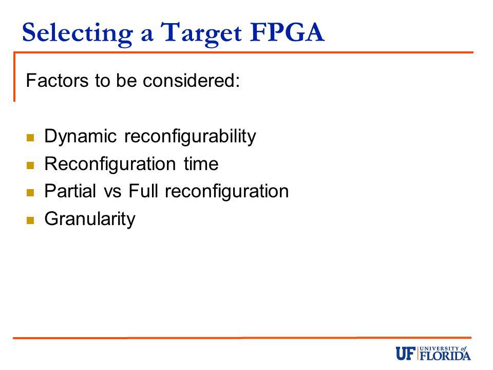 Selecting a Target FPGA