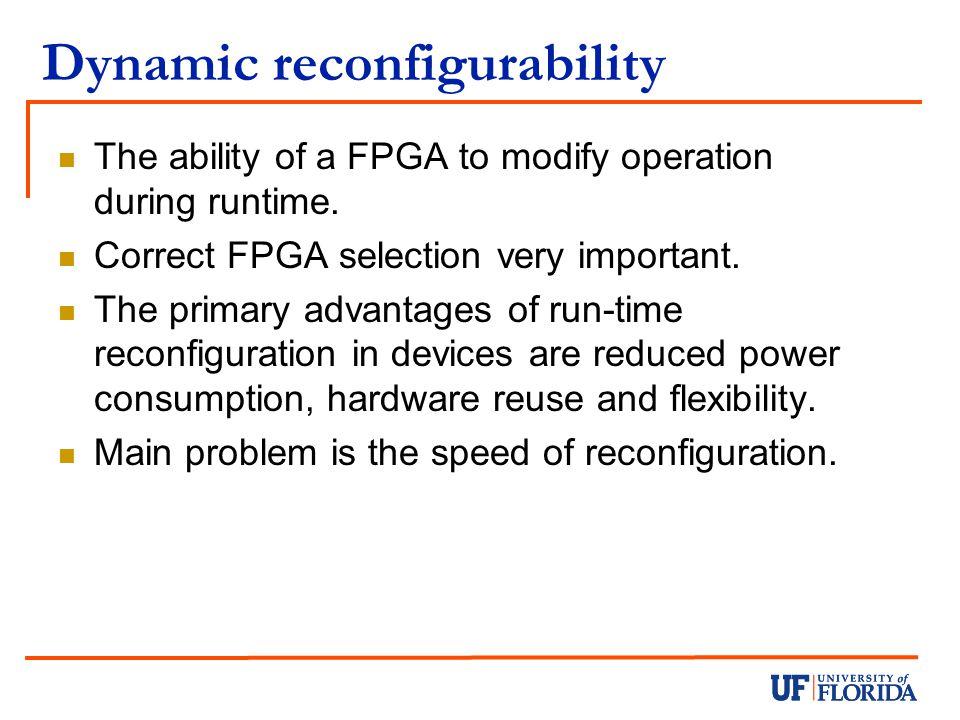 Dynamic reconfigurability