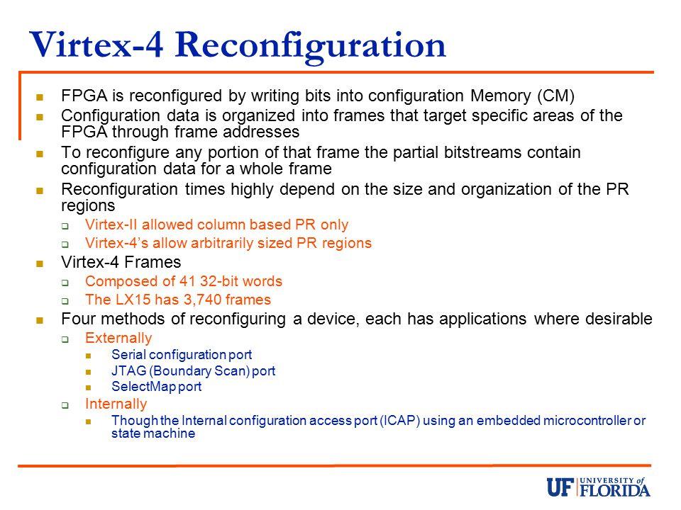 Virtex-4 Reconfiguration