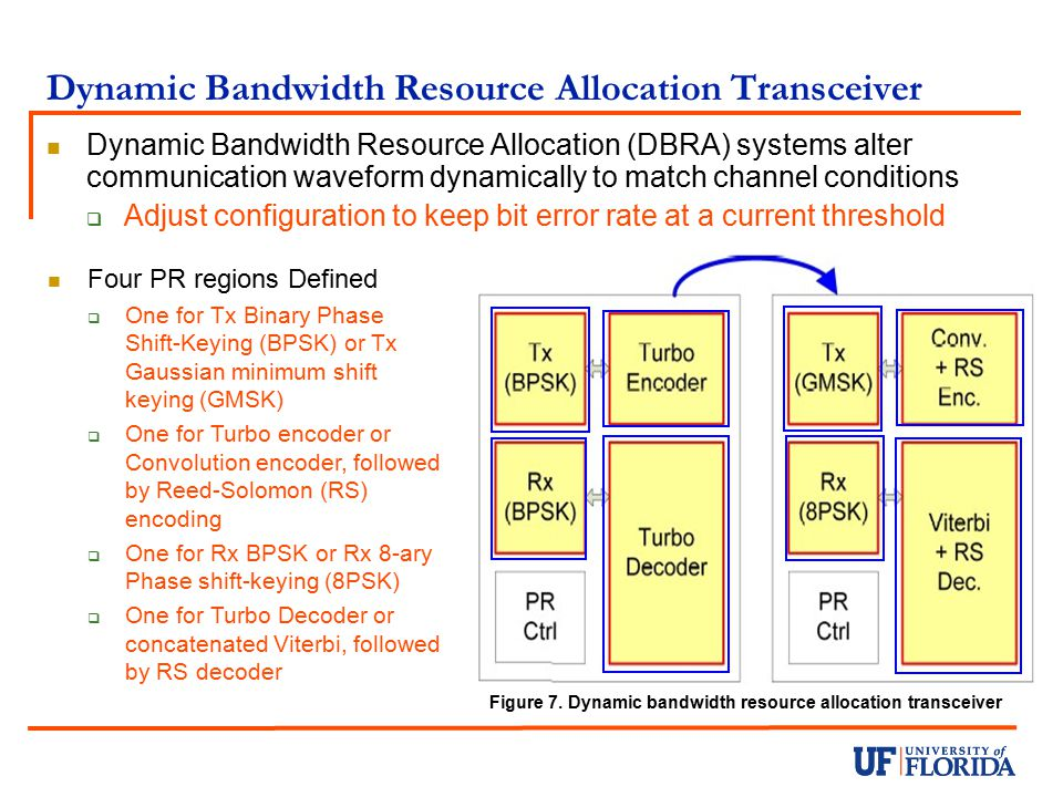 Dynamic Bandwidth Resource Allocation Transceiver
