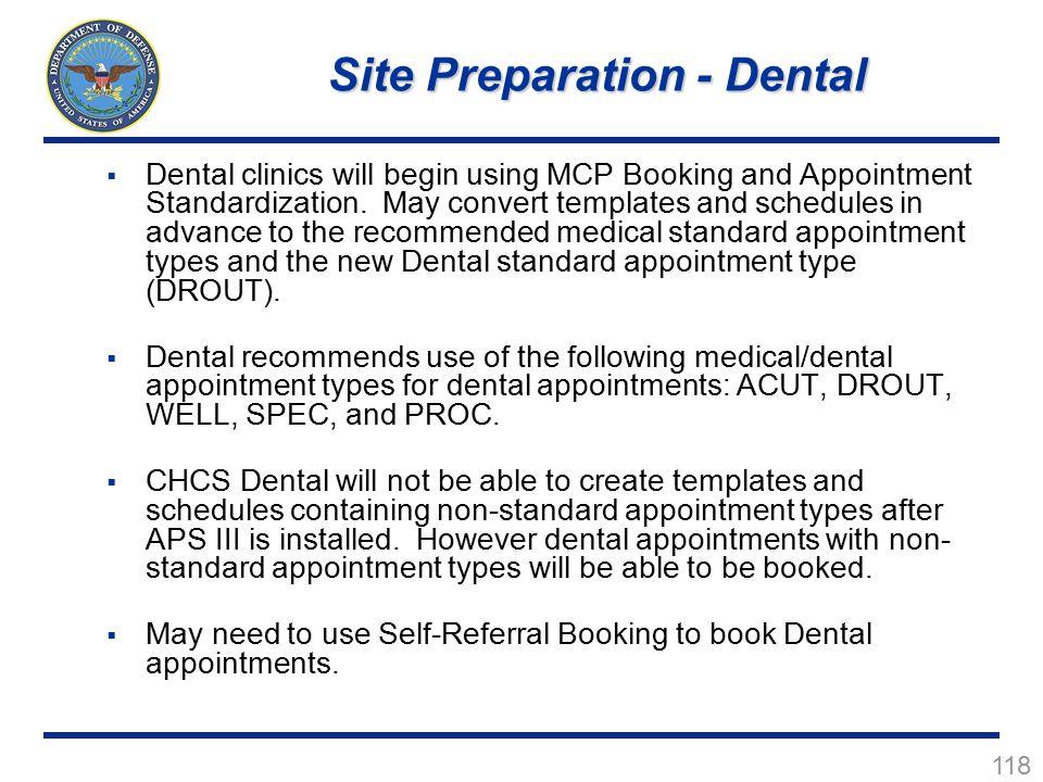 Site Preparation - Dental