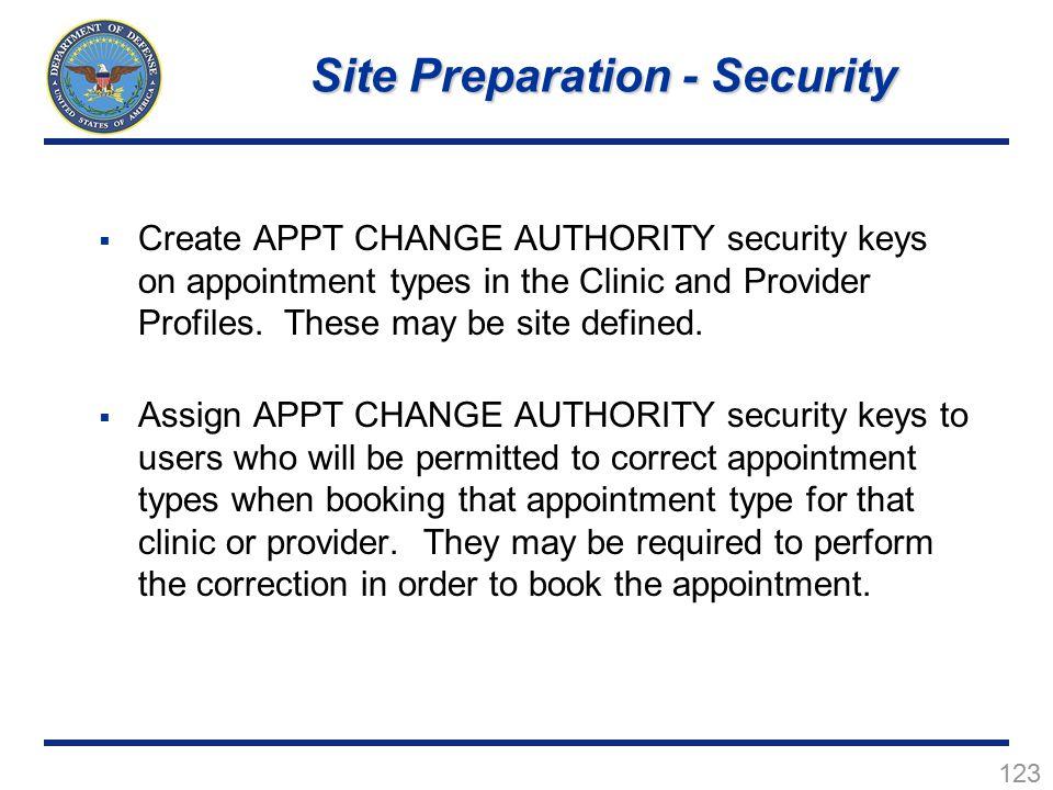 Site Preparation - Security