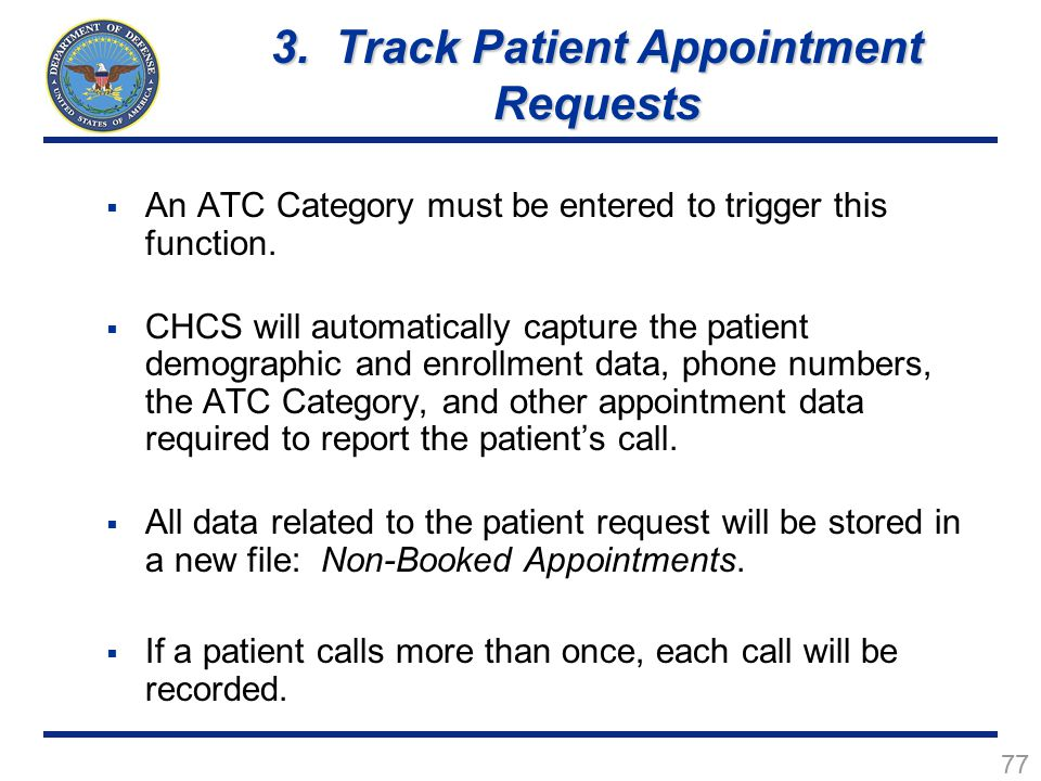 3. Track Patient Appointment Requests