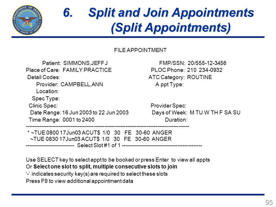 Split and Join Appointments (Split Appointments)