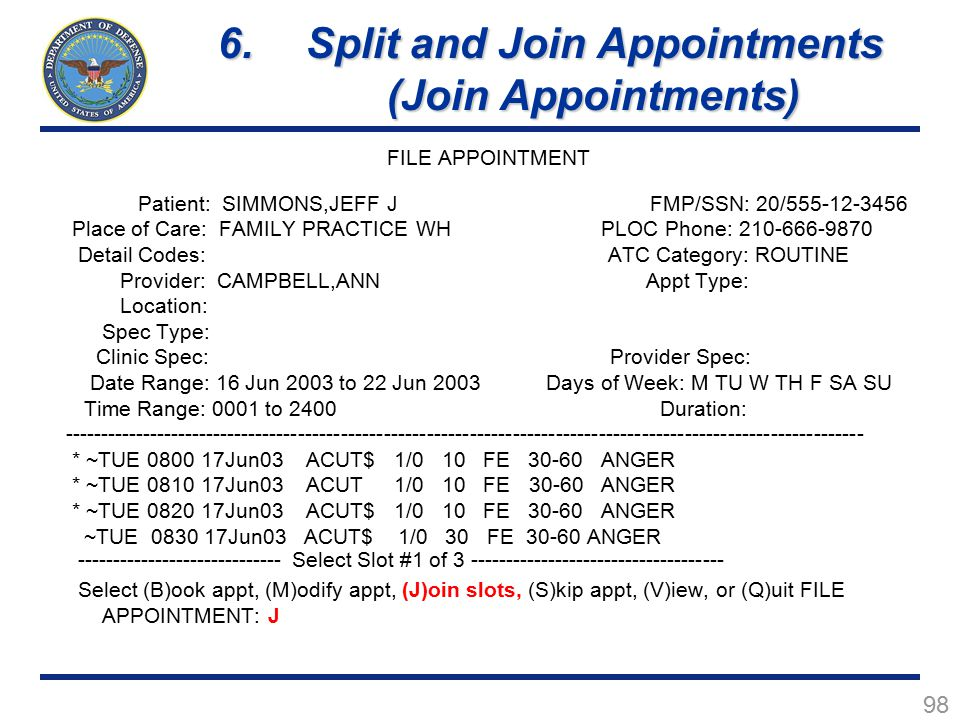 Split and Join Appointments (Join Appointments)