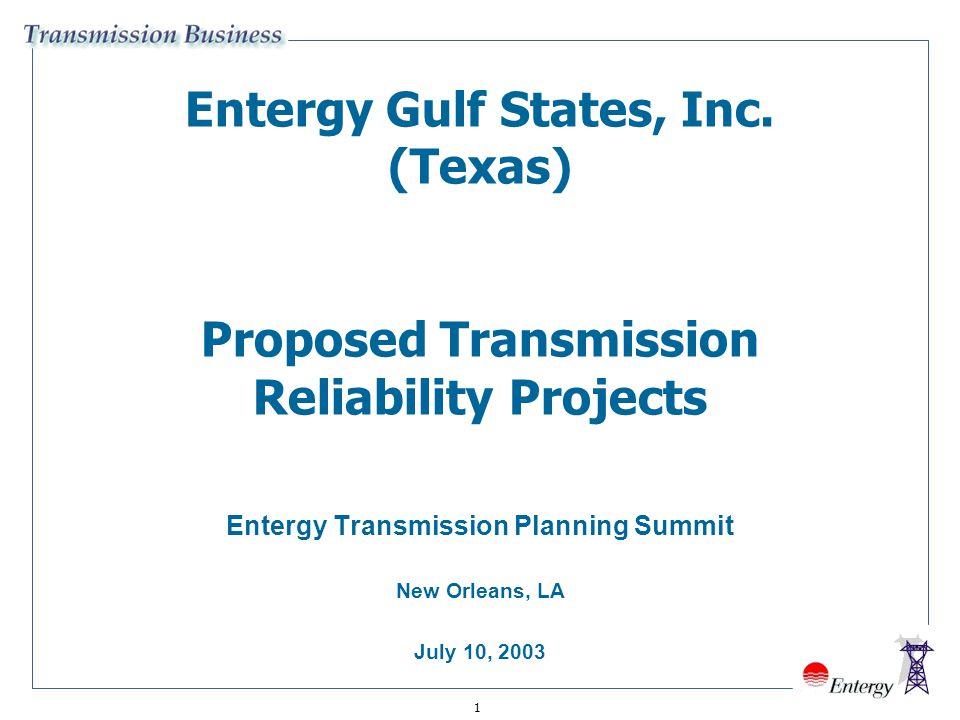 Entergy Transmission Planning Summit New Orleans, LA July 10, 2003