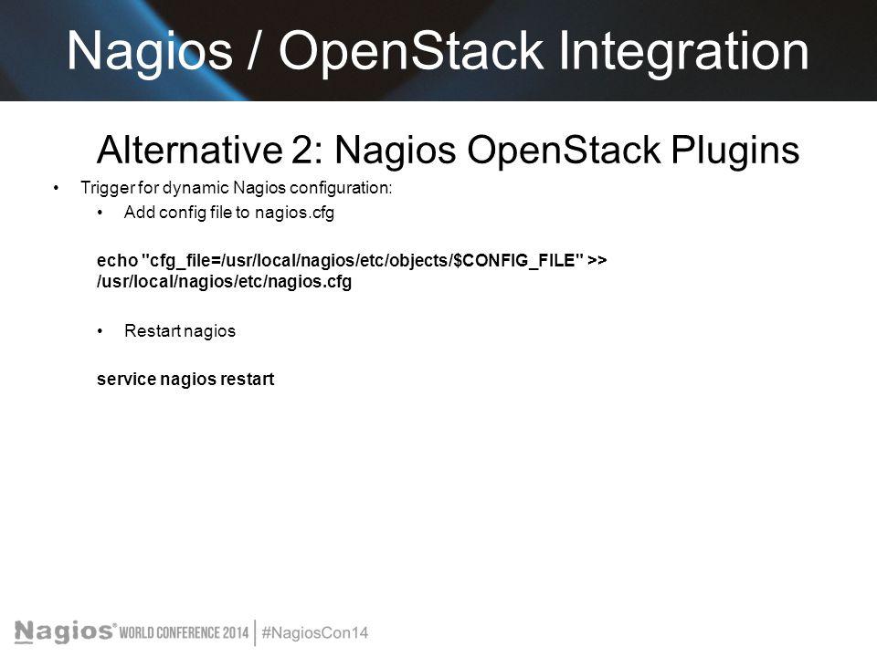 Nagios / OpenStack Integration