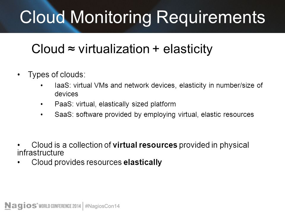 Cloud Monitoring Requirements