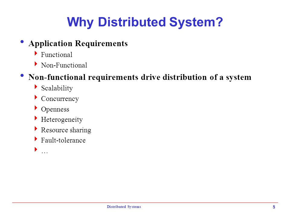 Why Distributed System