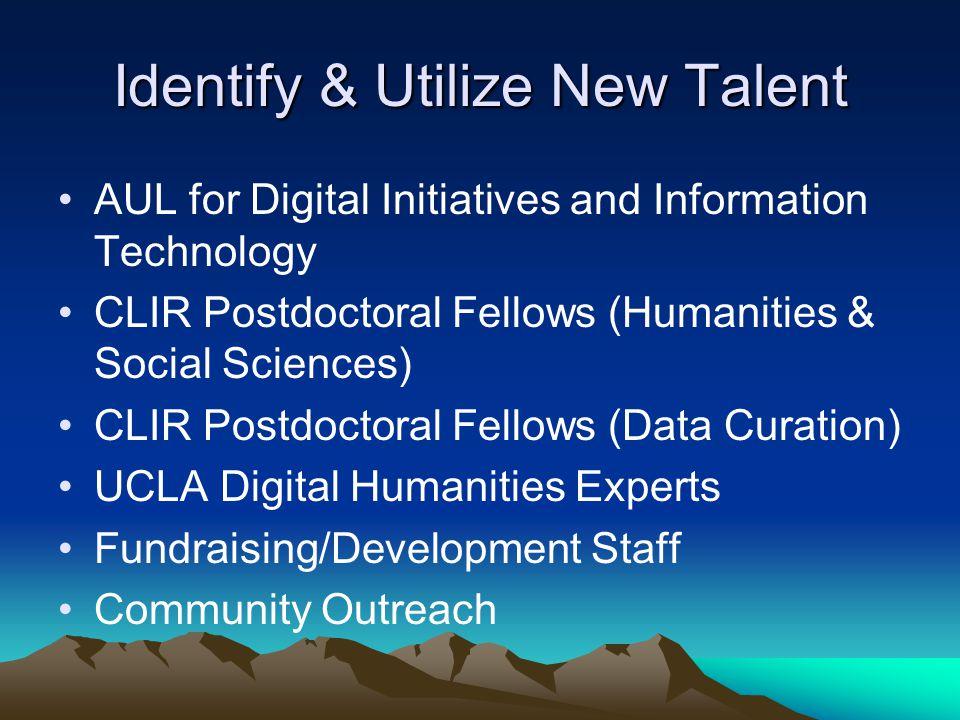 Identify & Utilize New Talent