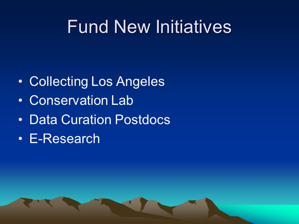 Fund New Initiatives Collecting Los Angeles Conservation Lab