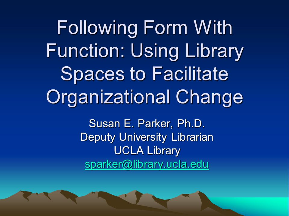Deputy University Librarian