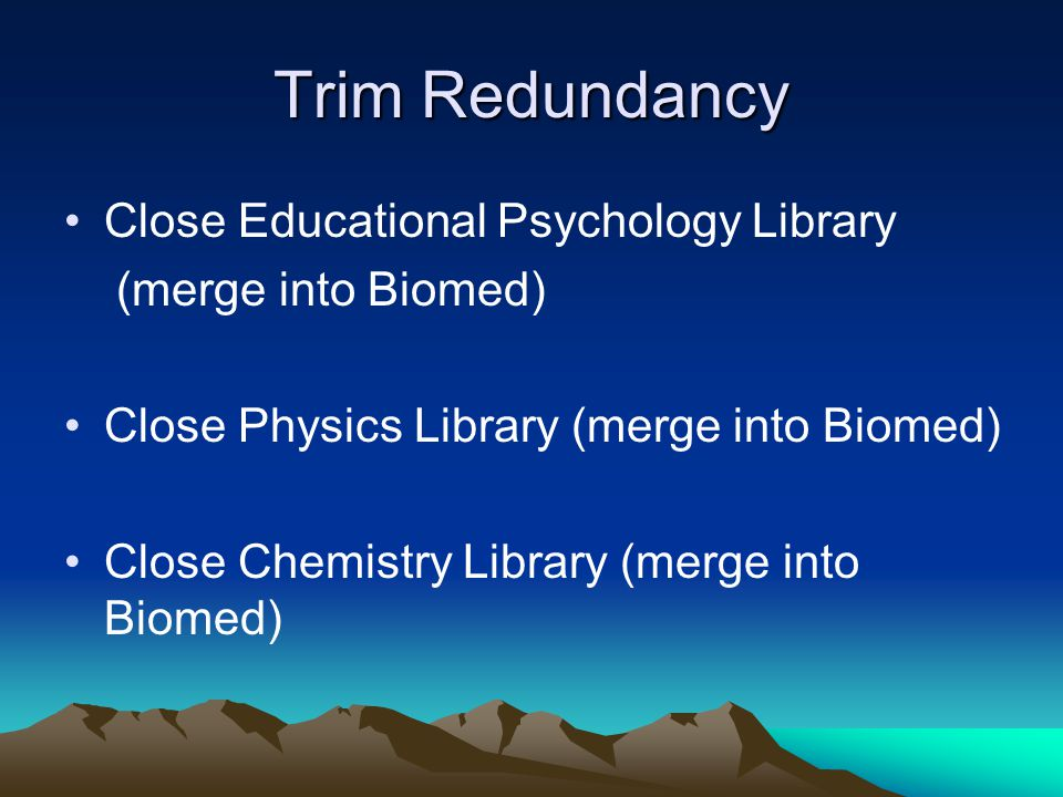 Trim Redundancy Close Educational Psychology Library