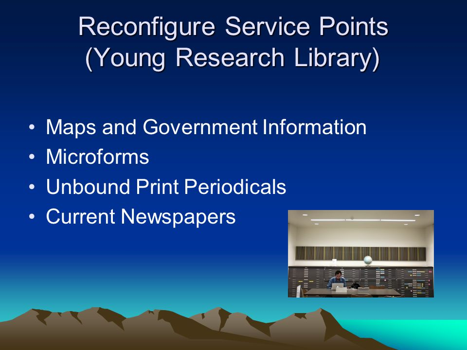 Reconfigure Service Points (Young Research Library)