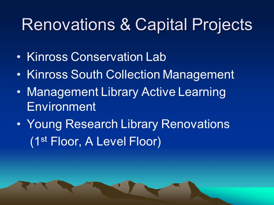 Renovations & Capital Projects