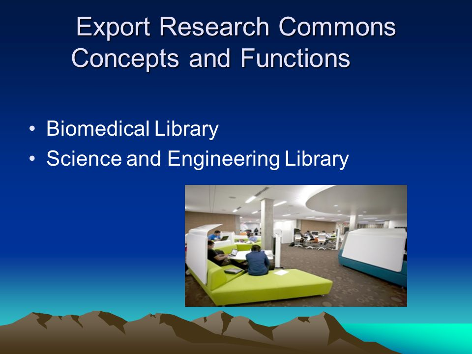 Export Research Commons Concepts and Functions