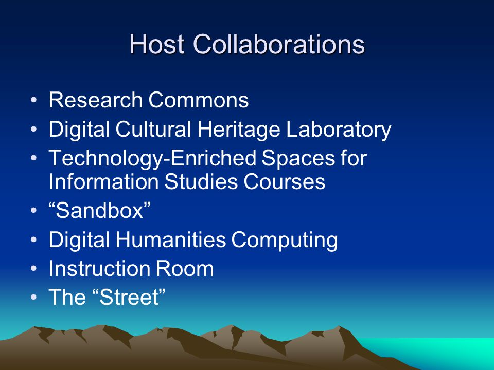 Host Collaborations Research Commons
