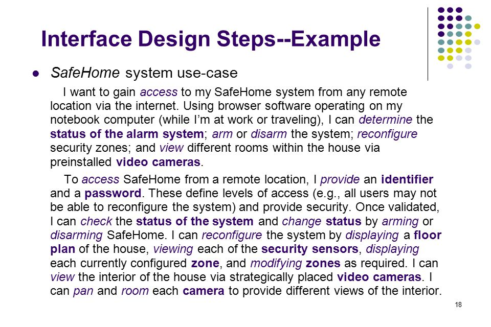 Interface Design Steps--Example