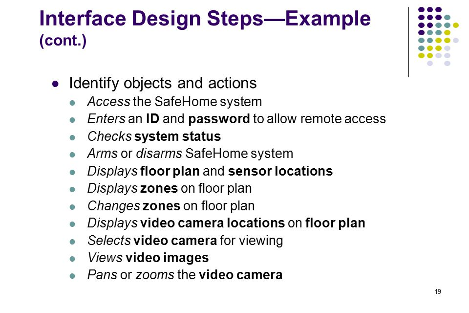 Interface Design Steps—Example (cont.)