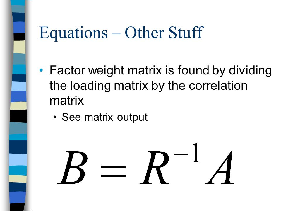 Equations – Other Stuff