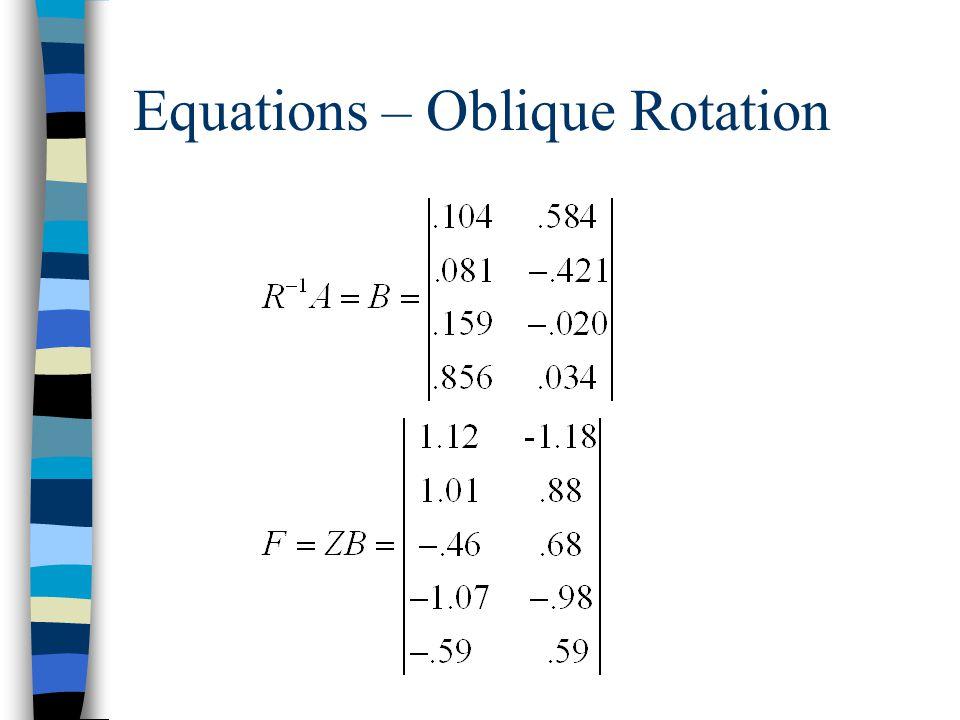 Equations – Oblique Rotation