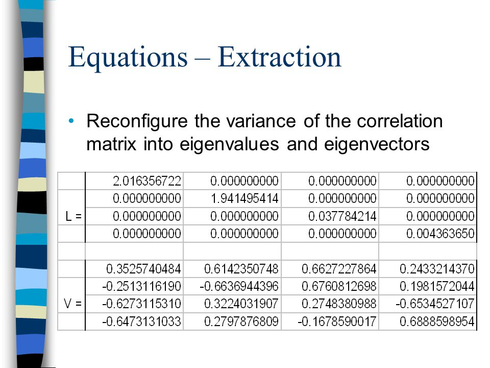 Equations – Extraction