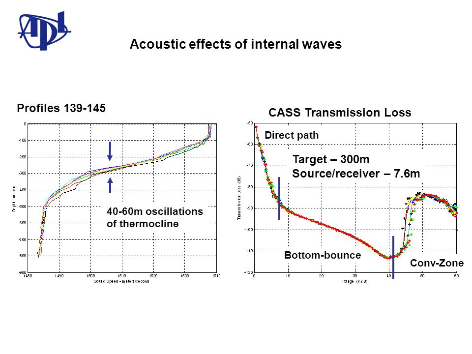 Acoustic effects of internal waves