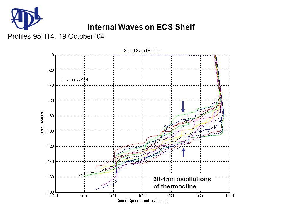 Internal Waves on ECS Shelf