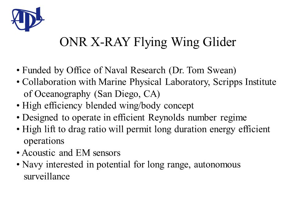 ONR X-RAY Flying Wing Glider