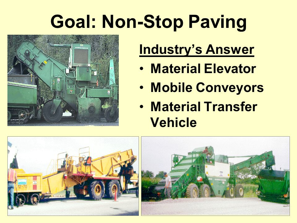 Goal: Non-Stop Paving Industry's Answer Material Elevator