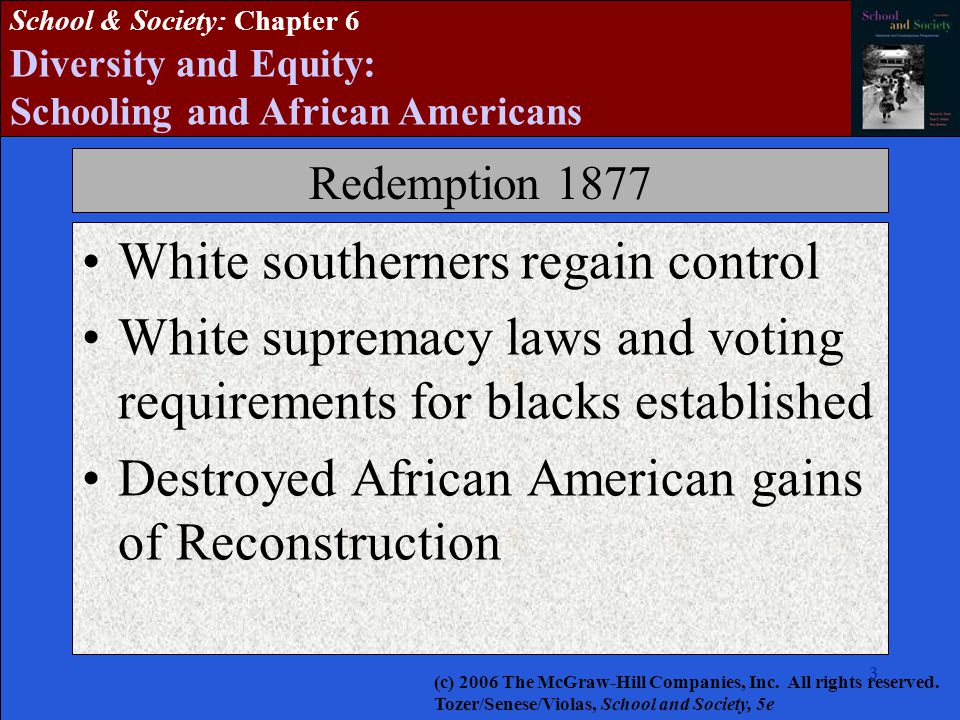 White southerners regain control