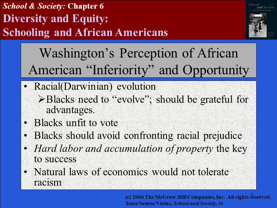 Washington's Perception of African American Inferiority and Opportunity