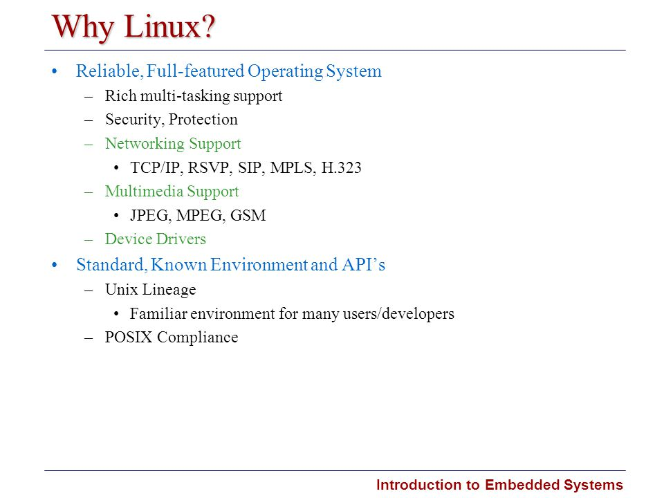 Why Linux Reliable, Full-featured Operating System