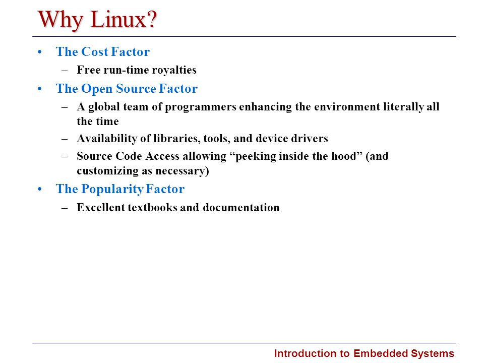 Why Linux The Cost Factor The Open Source Factor