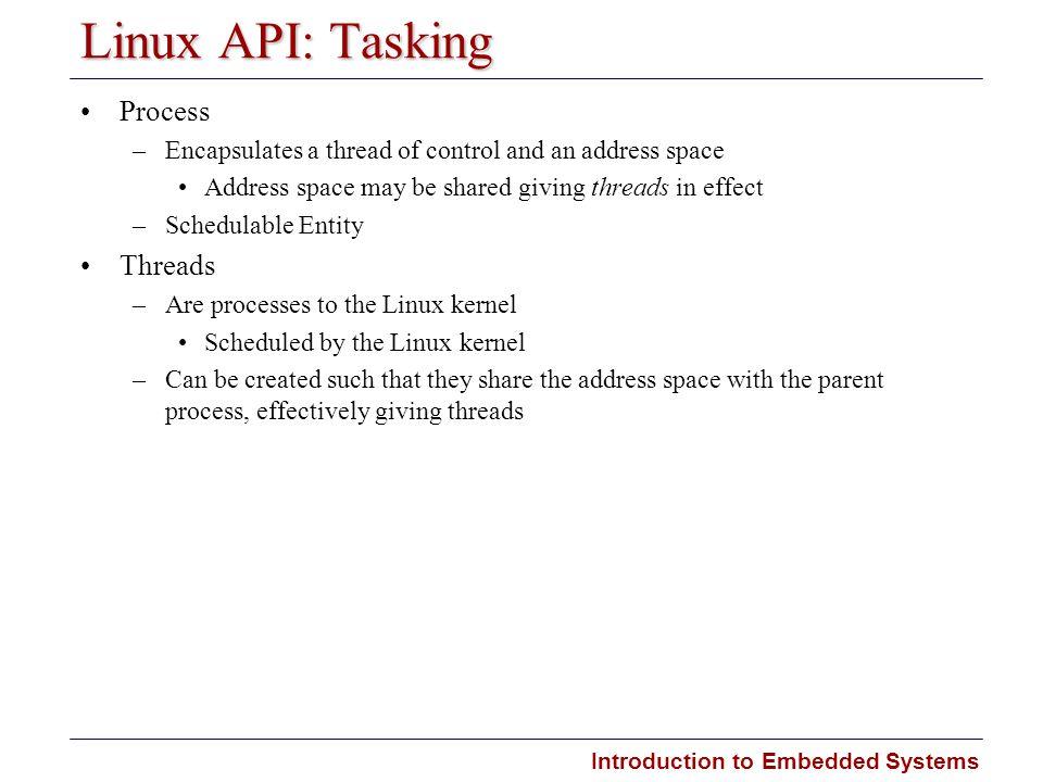Linux API: Tasking Process Threads
