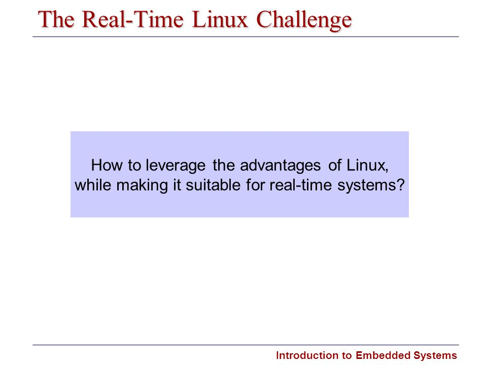The Real-Time Linux Challenge