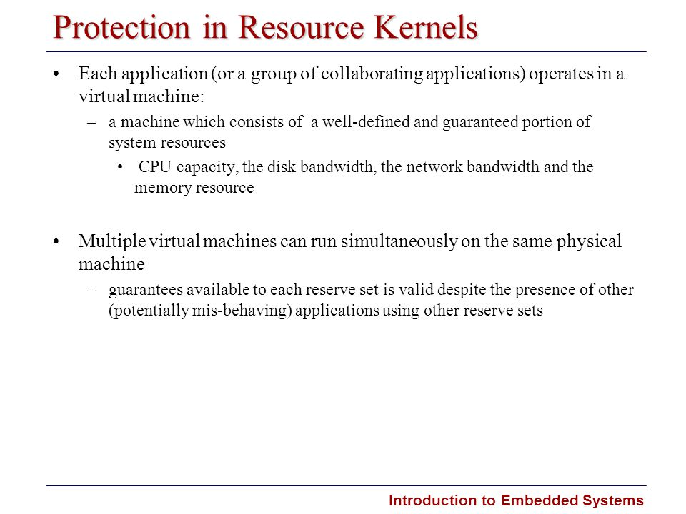Protection in Resource Kernels