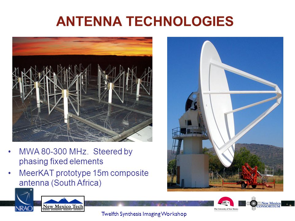 ANTENNA TECHNOLOGIES MWA 80-300 MHz. Steered by phasing fixed elements