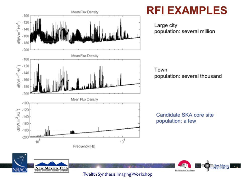 RFI EXAMPLES Twelfth Synthesis Imaging Workshop