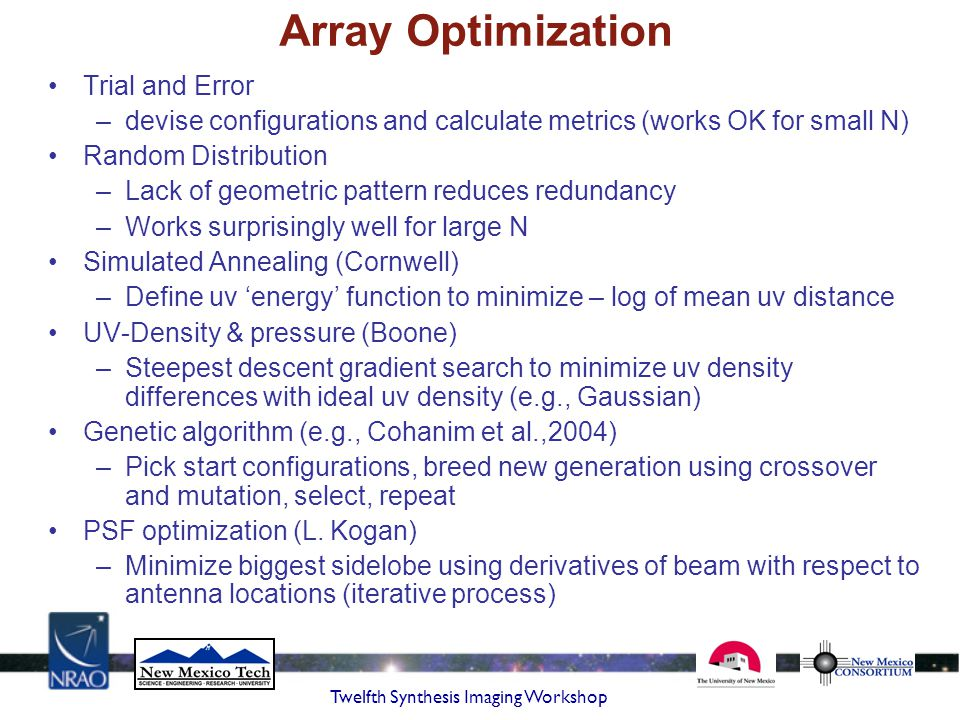Array Optimization Trial and Error